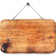 Empty wooden sign — Stock Photo