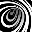 Abstract black and white spiral - Stock Photo
