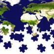 Earth puzzle — Stock Photo