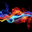 Red and blue smoke — Stock Photo #10846865