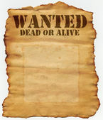 Wanted Dead or Alive — Stock Photo