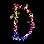 Lumières en forme de lettres — Photo