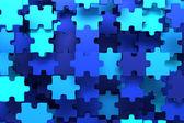 Blue puzzle pieces — Stock Photo