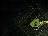 Detailed circuit board — Stock Photo