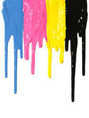 CMYK paint dripping — Stock Photo