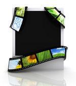 Film rond een foto — Stockfoto