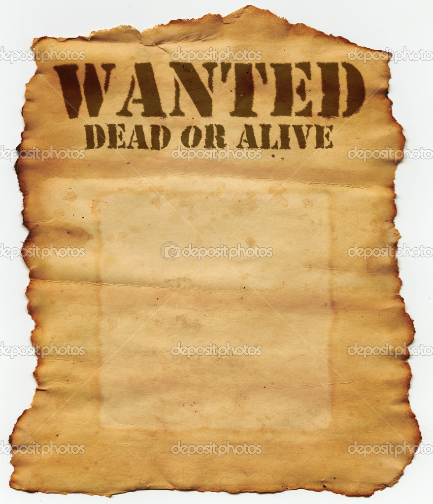 Wanted dead or alive poster image wanted dead or alive