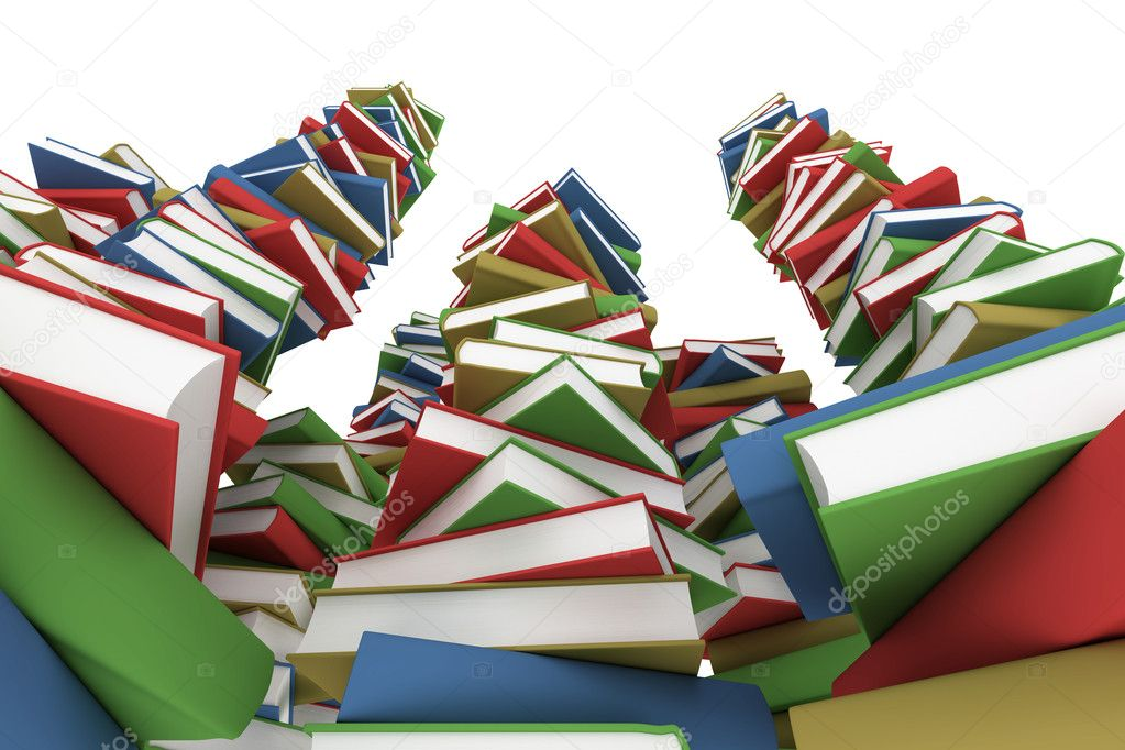 Huge stack of books — Stock Photo #10841004