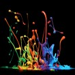 Stock Photo: Paint splashing