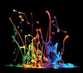 Paint splashing — Stockfoto
