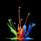 Malování splash — Stock fotografie