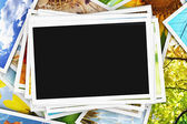 Collection of photos with an empty photo — Stock Photo
