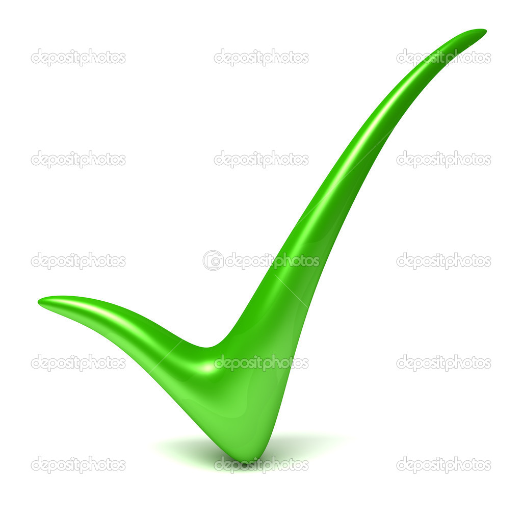 Green check mark — Stock Photo #11928043