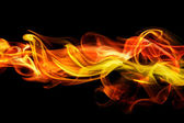 Fiery smoke background — Stock Photo