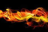 Ognistym tle dymu — Zdjęcie stockowe