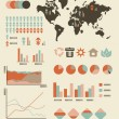 Environmental and population statistics, charts and graphs — Imagen vectorial