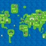 Cartoon map of the world — Stock Vector