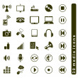Media icons set — Stock Vector #11015540