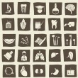 Retro anatomical icons — Stock Vector