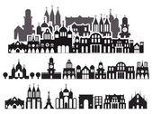 Kreslené domy — Stock vektor