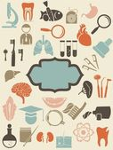 Retro medyczne ikony — Wektor stockowy