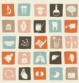 Retro anatomical icons set — Stock Vector