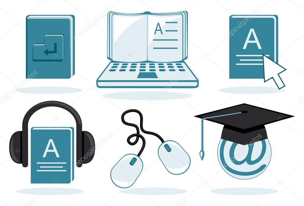 E Learning Icon E-learning icons without