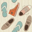 Shoes Seamless  background — Stock Vector #12158382