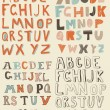 Funky latin alphabets — Stockvectorbeeld