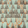 Seamless background in retro colours — Image vectorielle