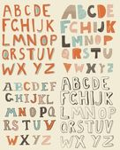 Funky latin alphabets — Vetorial Stock