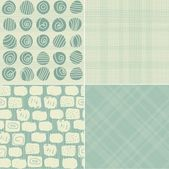 Seamless background in retro colours — Vector de stock
