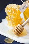 Honey and honeycombs. — Stock Photo