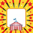 Circus tent and background — Stock Vector