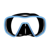 Single scuba diving mask — Stock Vector