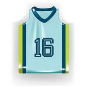 Camicia basket singolo — Vettoriale Stock