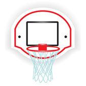 Single basketball ring — Stock Vector
