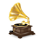 Gramophone isolted on white — Stock Vector