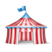 Single circus tent — Stock Vector