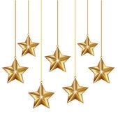 Estrellas de oro de la decoración — Vector de stock