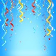 Stock Photo: Ribbons and confetti colorful background