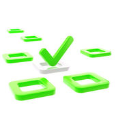 To do list, tick in green check box — Stock Photo