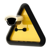 Camera cctv alert sign isolated — Stock Photo