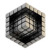 Abstracte achtergrond als kubus structuur — Stockfoto