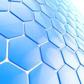 Fundo de forma abstrata do hexágono — Fotografia Stock