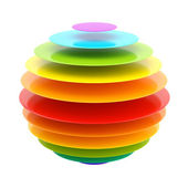 Abstract layer rainbow colored sphere — Stock Photo