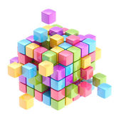Colorful cube abstract background — Stock Photo