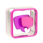 Chat sms emblema de ícone de aplicativo isolada — Fotografia Stock