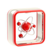 Science application icon emblem isolated — Stock Photo