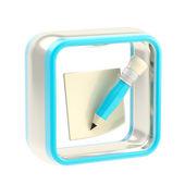 メモ アプリケーション アイコンのエンブレムが分離されました。 — ストック写真
